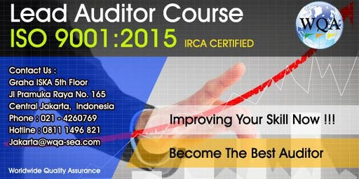 Training Lead Auditor Course ISO 9001:2015 - IRCA Certified