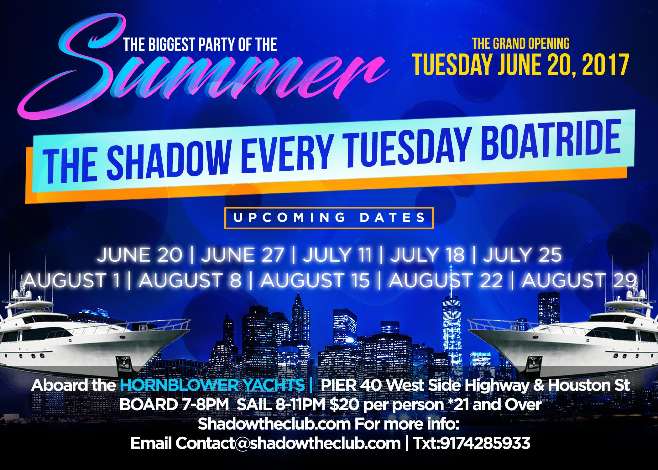 GRAND OPENING of the SHADOW BOATRIDE