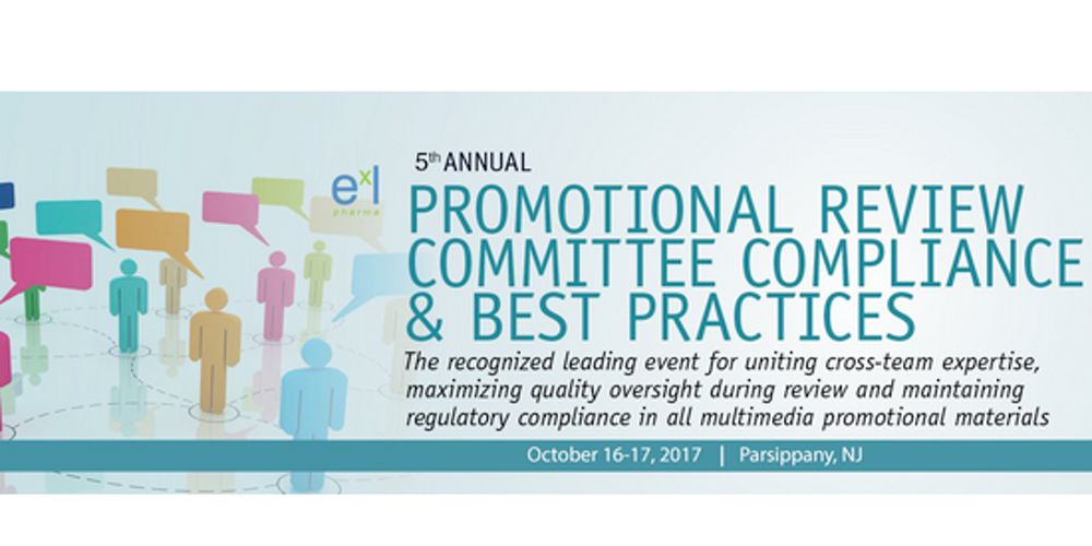 5th Promotional Review Committee Compliance & Best Practices (EXL) Tickets, Mon, Oct 16, 2017 at 8:00 AM | Eventbrite