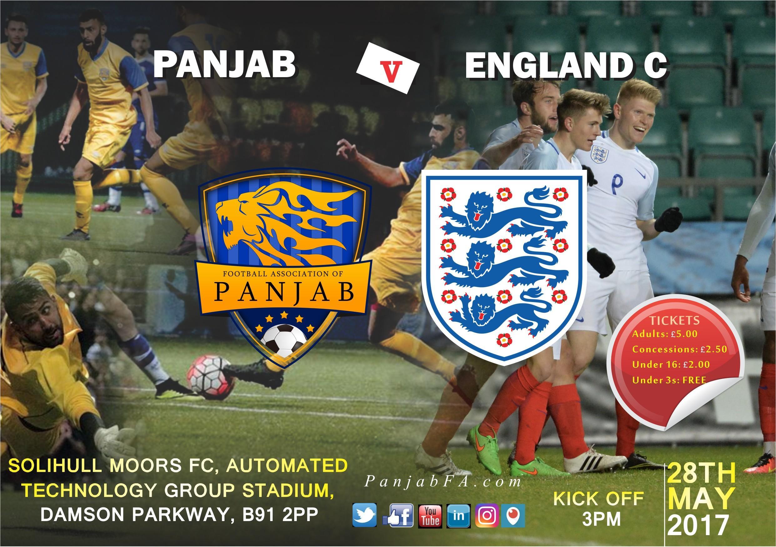 PANJAB FA vs ENGLAND C