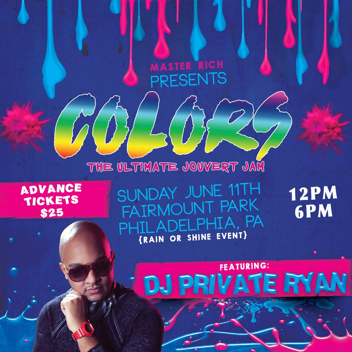 COLORS ~ THE ULTIMATE JOUVERT JAM ft DJ PRIVATE RYAN. COLORS ~ THE ULTIMATE JOUVERT JAM ft DJ PRIVATE RYAN
