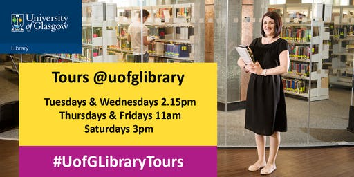 Library Tour - Friday 11.00 am