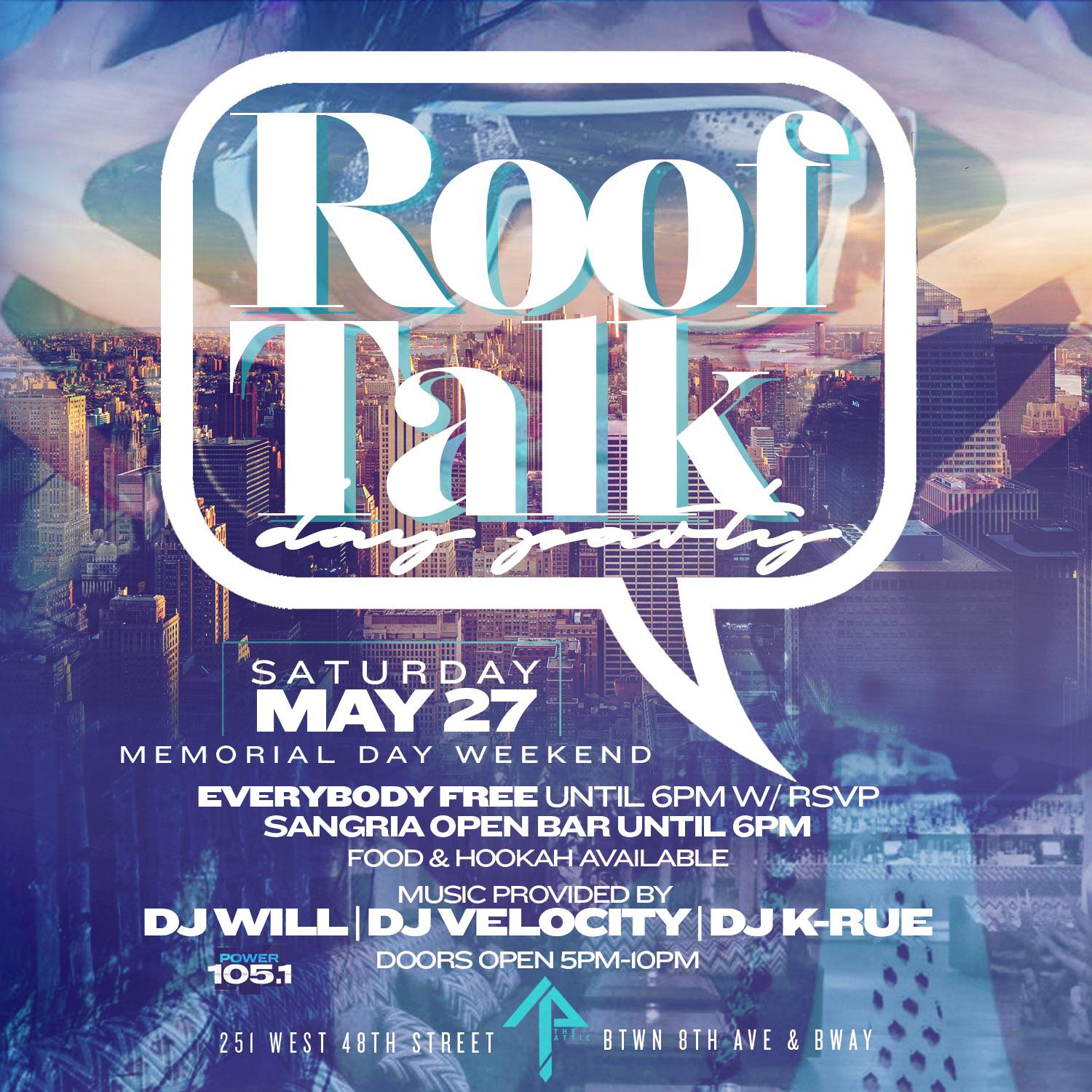 ceo fresh presents rooftalk day party the attic rooftop