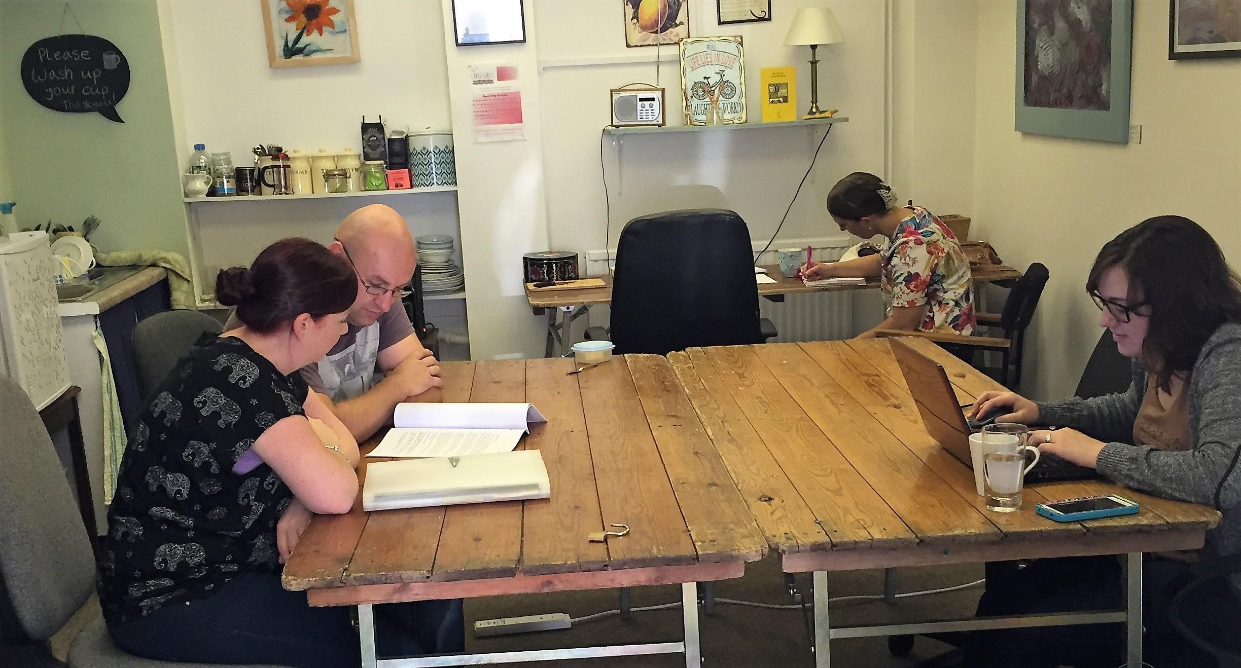 Hot desk spaces at Cheltenham Art Office