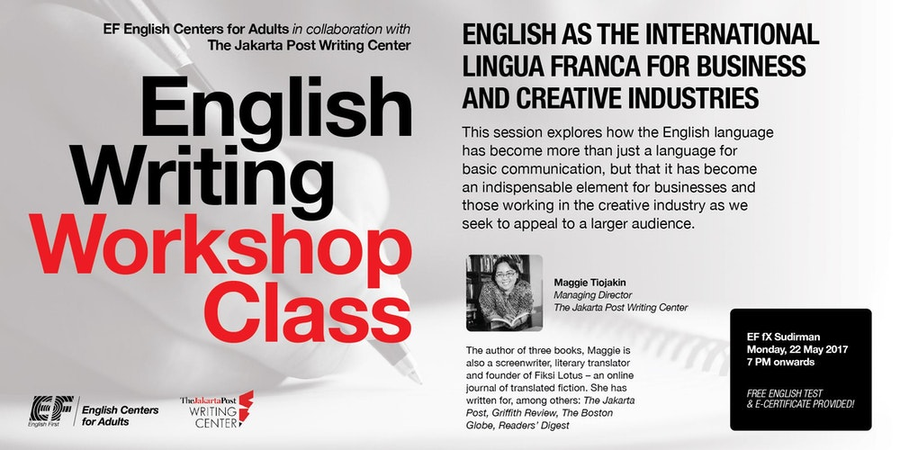 JBC Attending the Jakarta Post Writing Center s Creative Writing Workshops