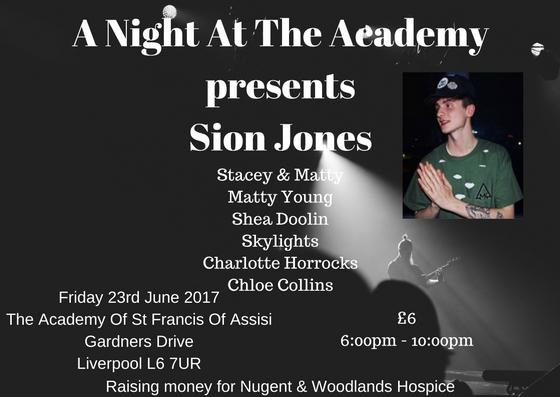 A Night At The Academy Presents Sion Jones