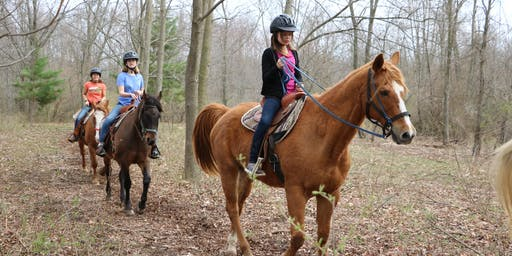Horseback Trail Rides at Camp Henry