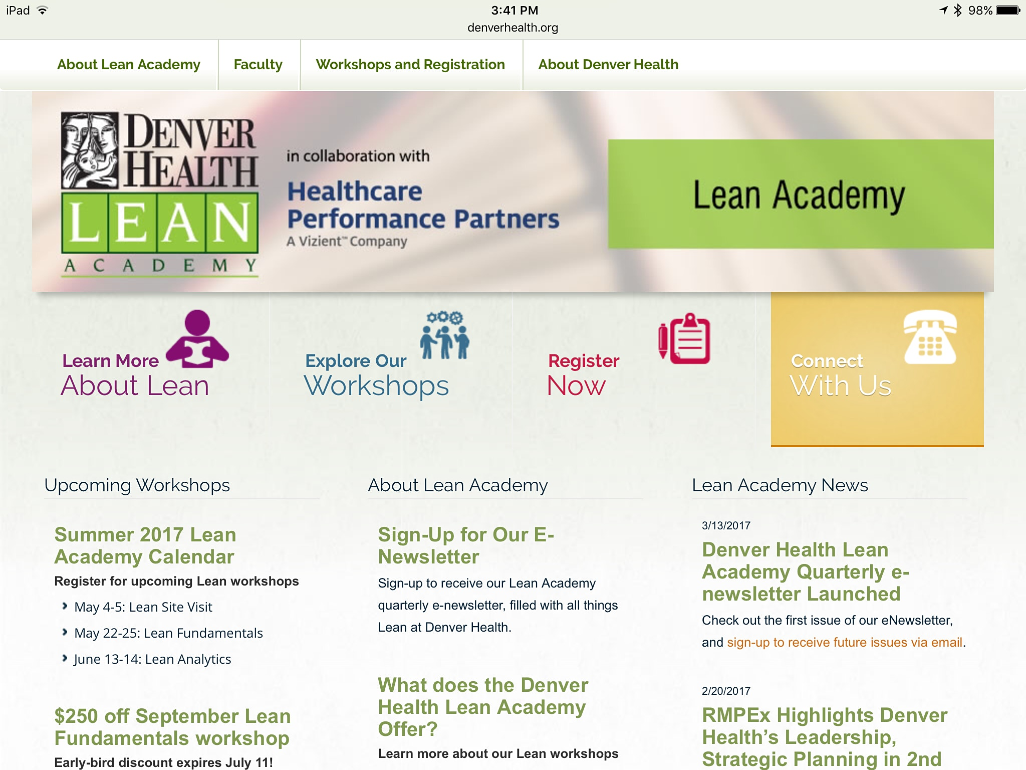 CLN Quarterly Kaizen at Denver Health