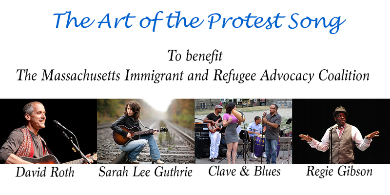 protest song concert logo
