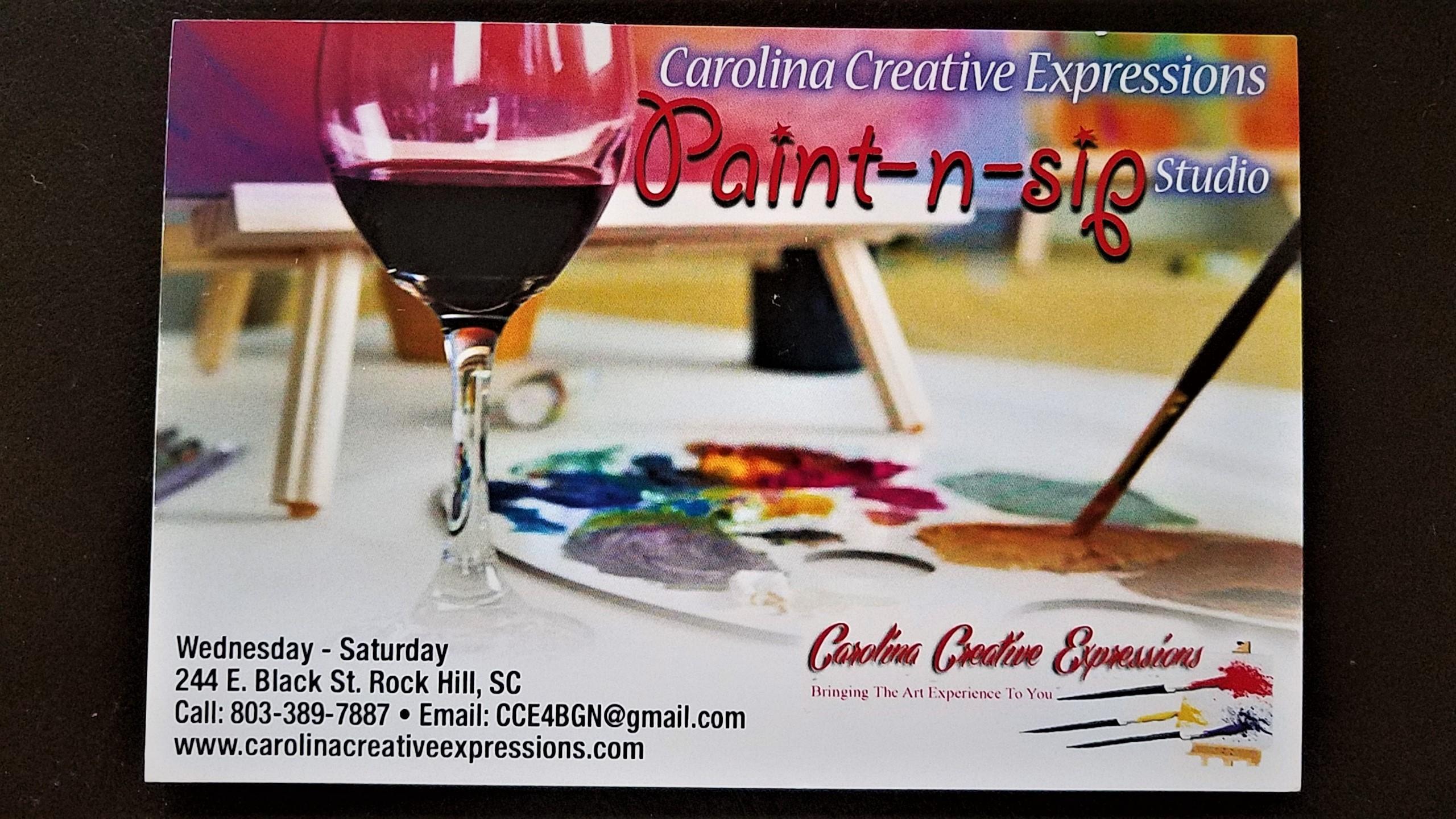 Pre-Drawn Canvas Nights at Carolina Creative