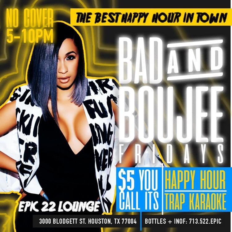 Bad & Boujee Fridays. Bad & Boujee Fridays