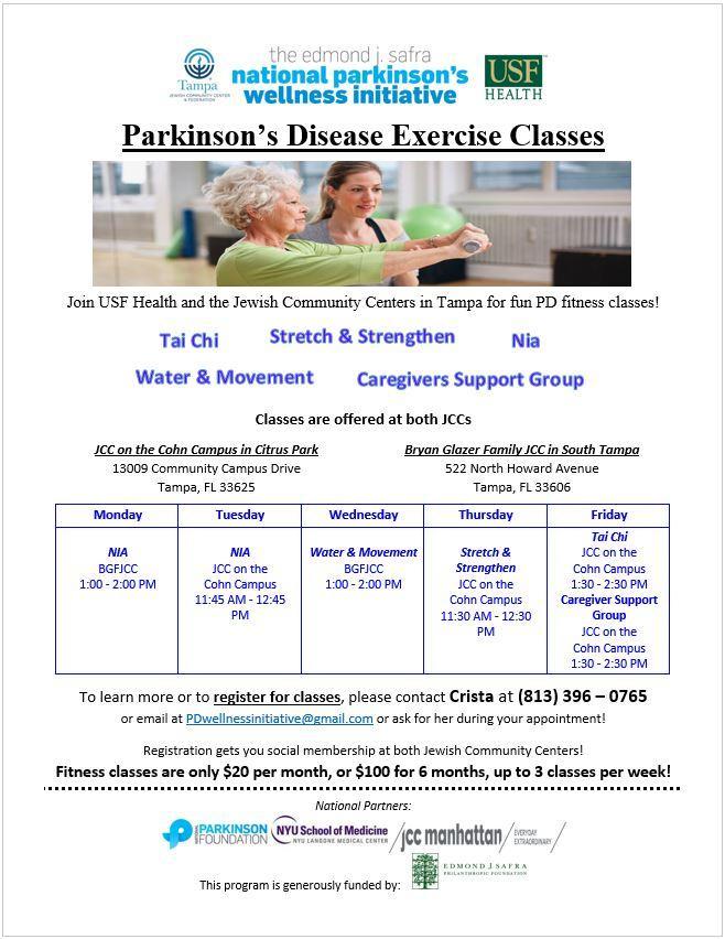 Parkinson's Disease Fitness Classes - Water &
