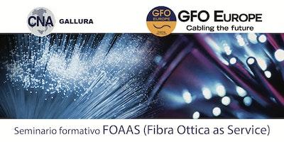 Seminario Formativo FOAAS = Fibra Ottica As A Service e Allertamenti di Massa