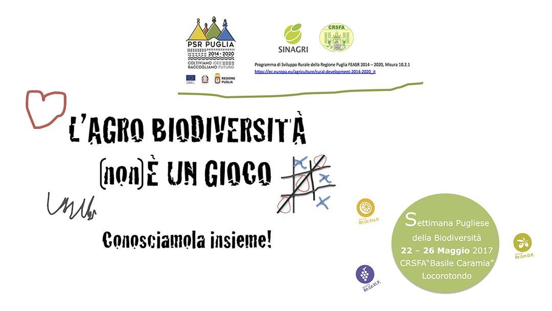 """""""L'Agro biodiversità non è un gioco"""". Visite"""