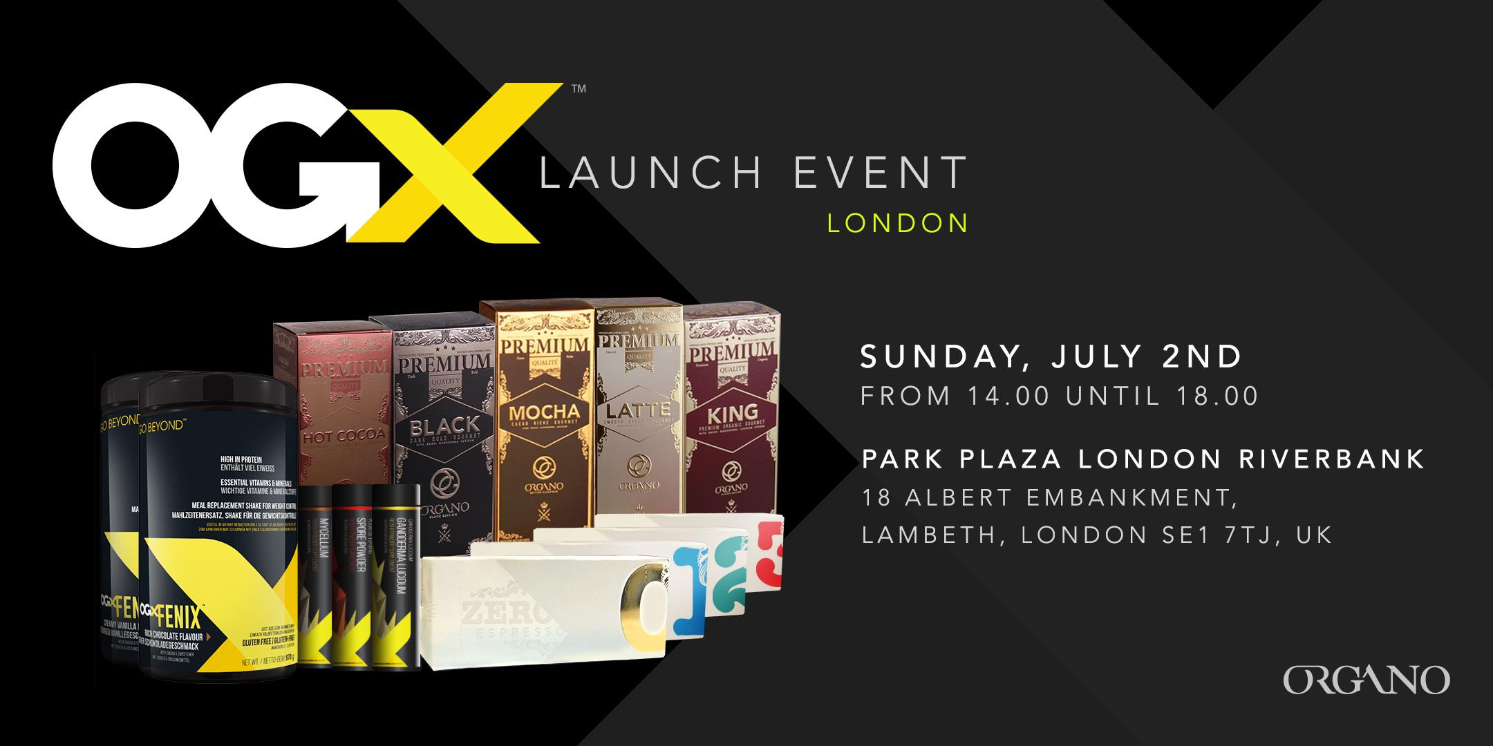 OGX European launch event in London