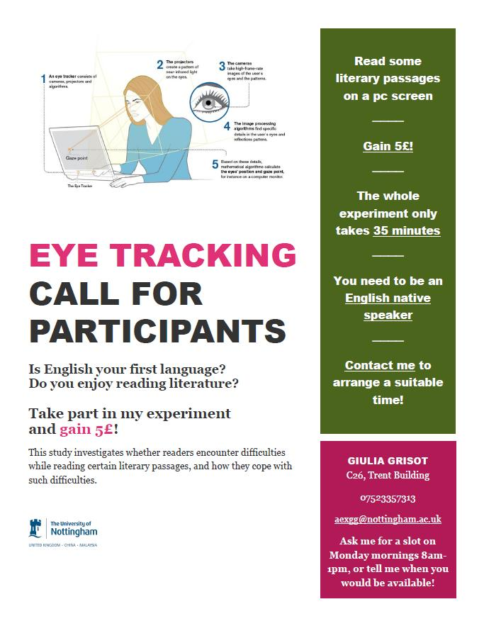 Take part in an exciting eye tracking study a
