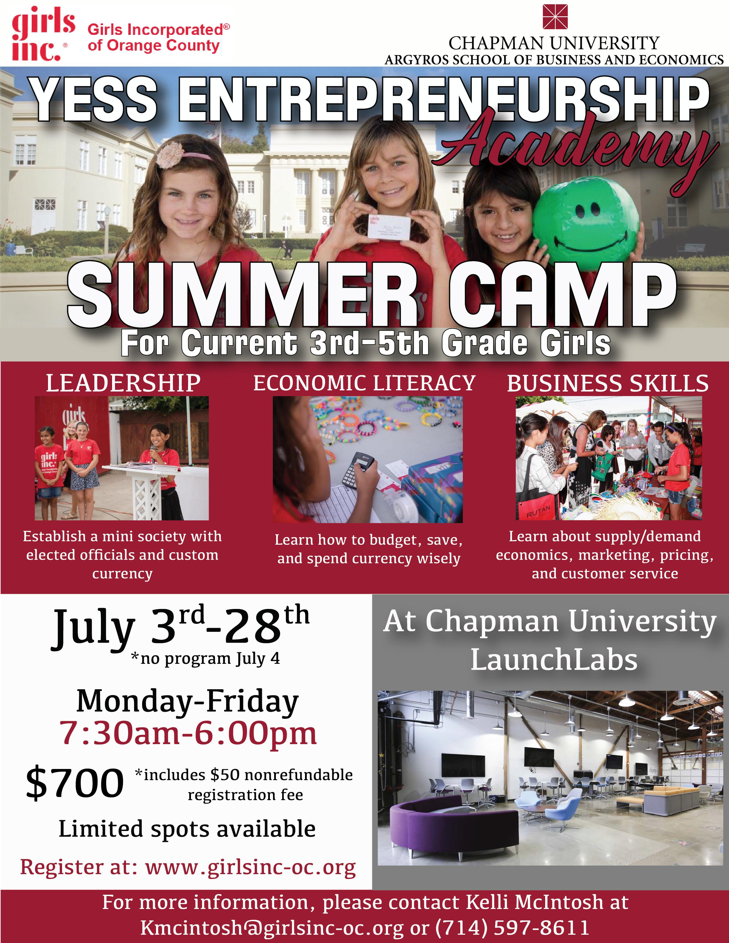 YESS Entrepreneurship Summer Camp