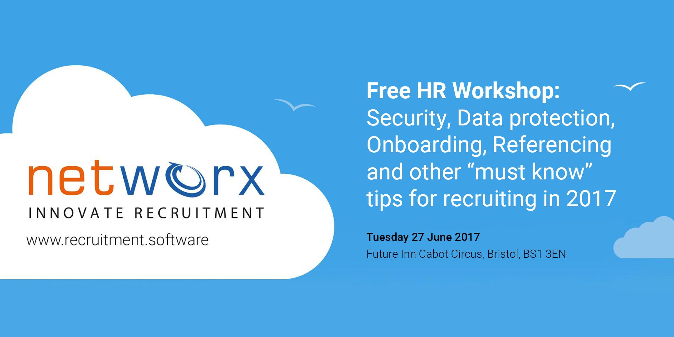 FREE HR WORKSHOP :  Security, Data protection