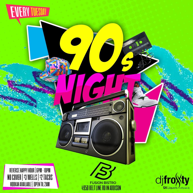 90s Night Reverse Happy Hour