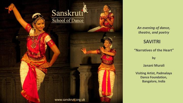 """Savitri""- An evening of dance, theatre, and"