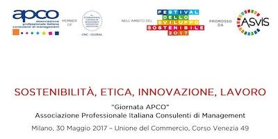 Festival Sviluppo Sostenibile: SOSTENIBILITA', ETICA, INNOVAZIONE, LAVORO