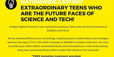 Teens (Age 13-17) in STEM interested in Invisalign Treatment