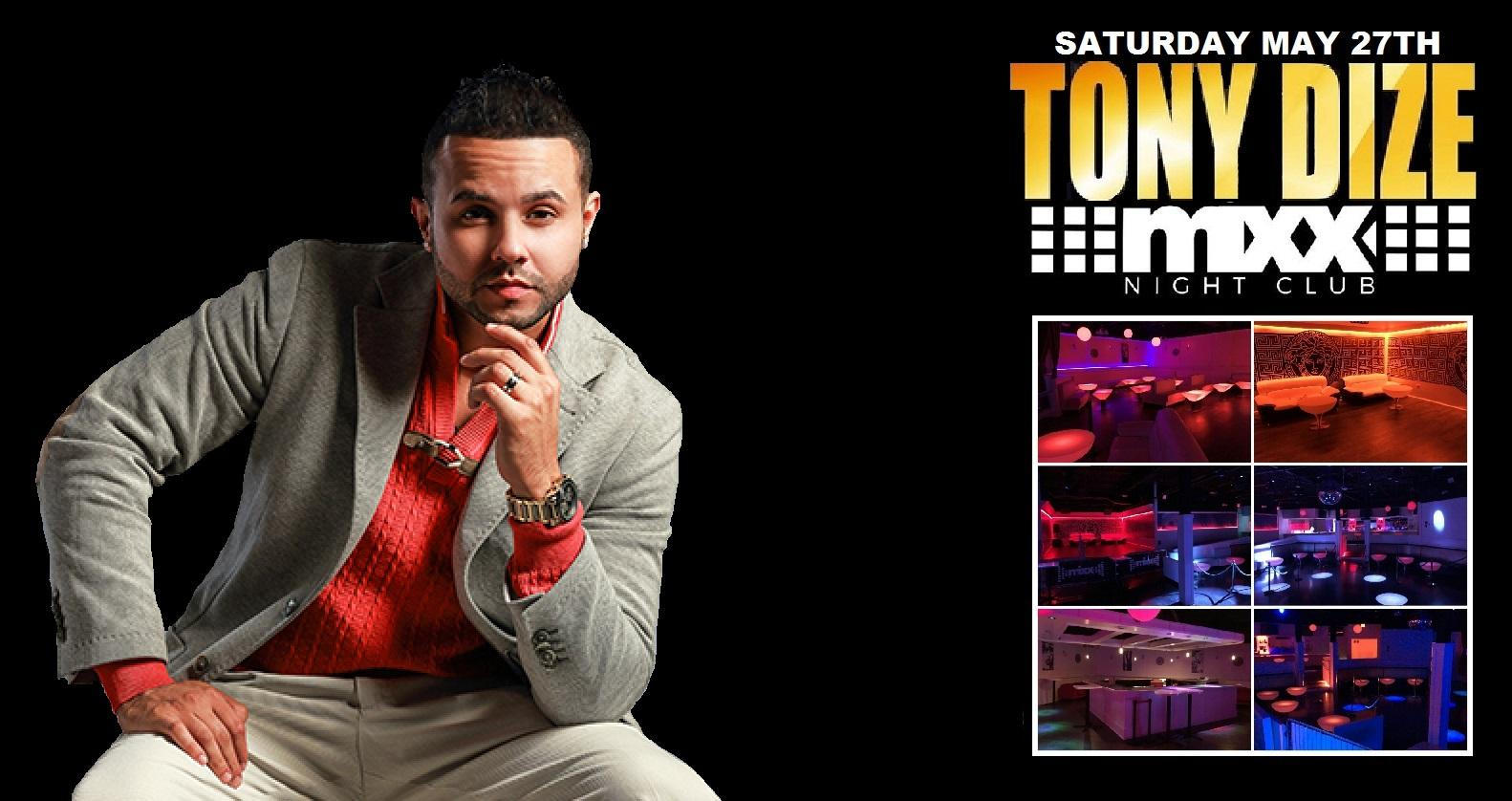 Tony Dize performing live this Saturday May 2