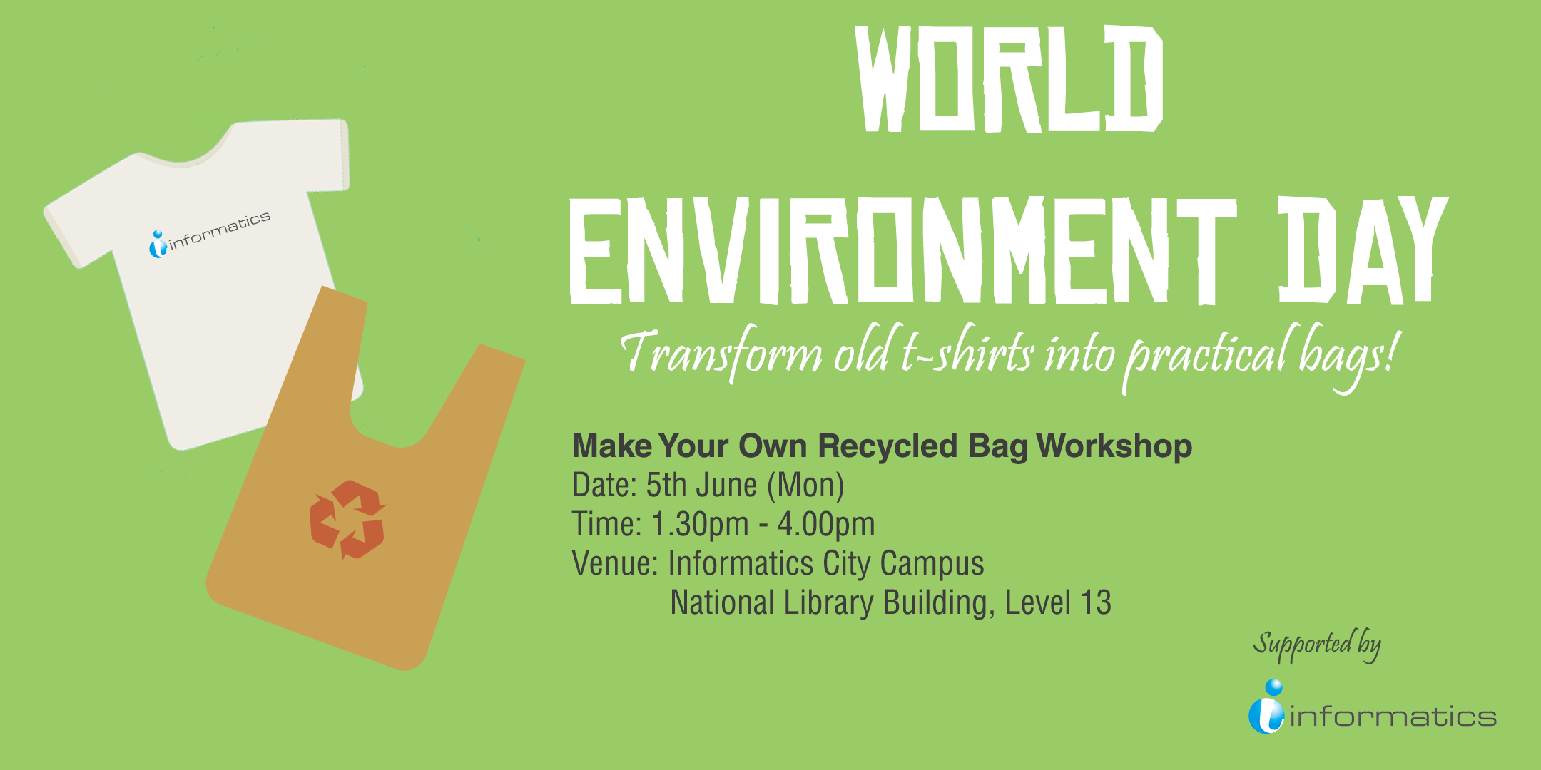 Design your own t shirt in singapore - Make Your Own Recycled Bag Workshop