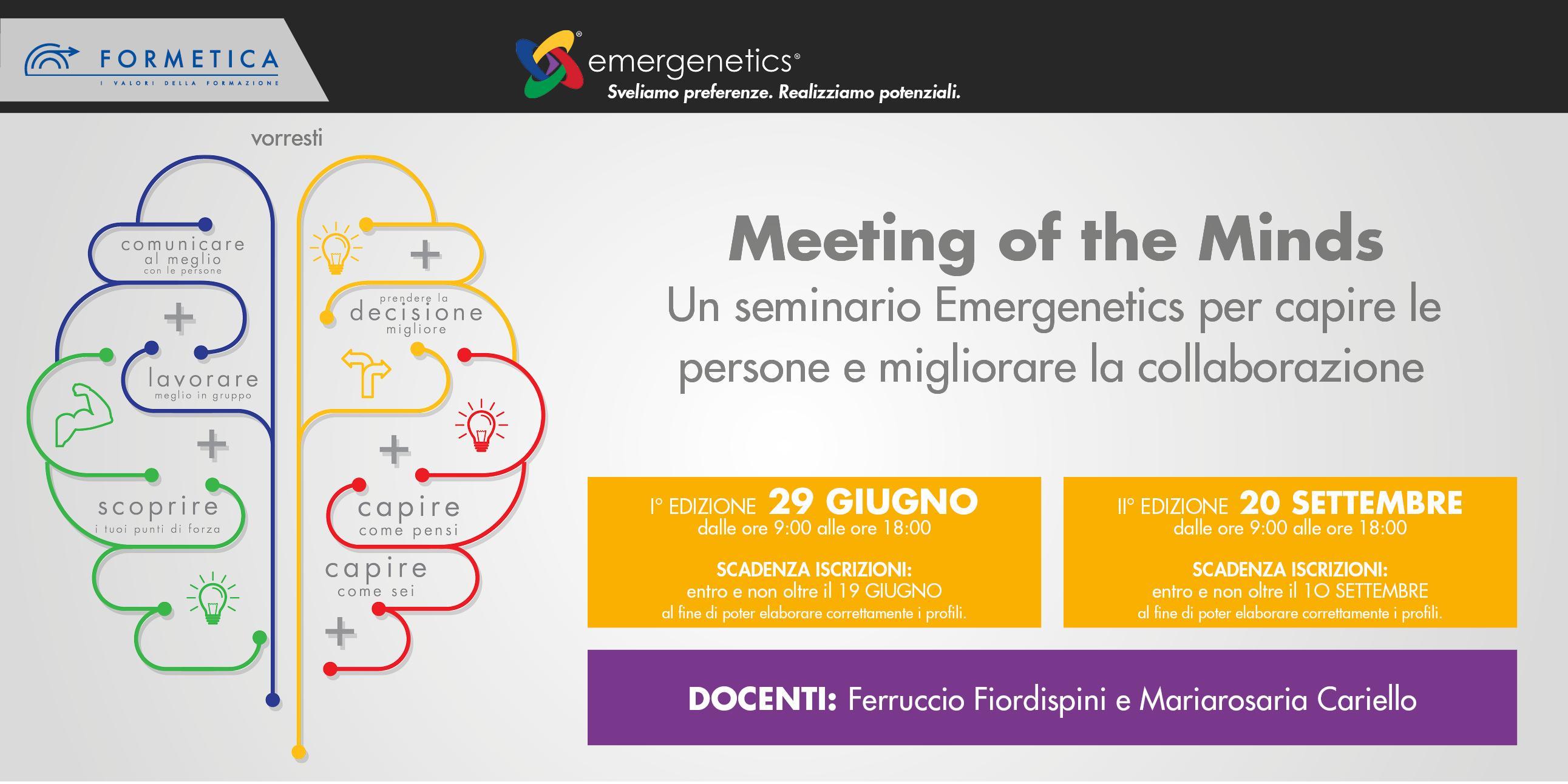 MEETING of the MINDS- Un seminario Emergeneti