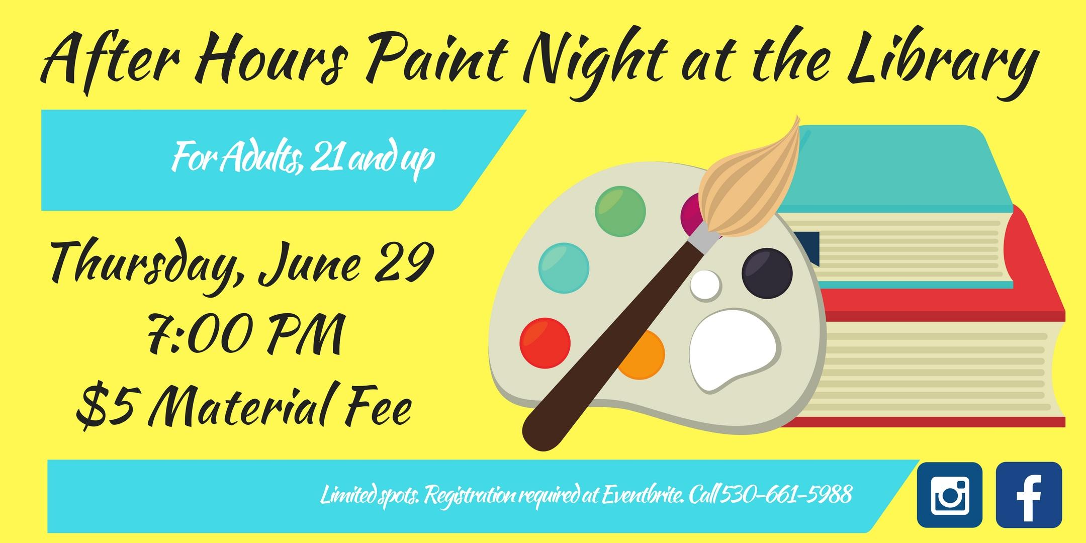 After Hours Paint Night at the Library