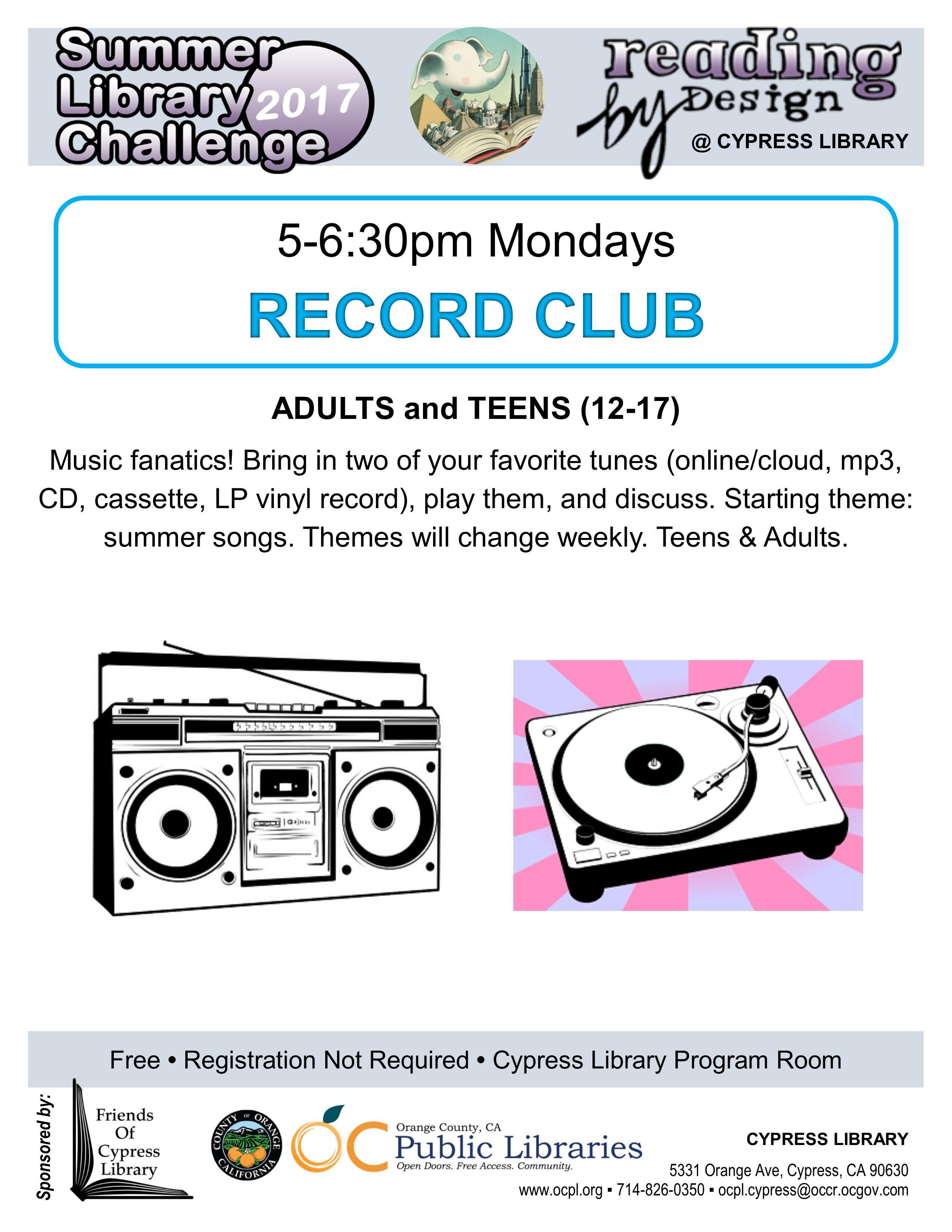 Cypress Library Record Club