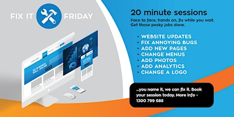 Fix It Fridays - Websites, Social Media & Digital Content tickets