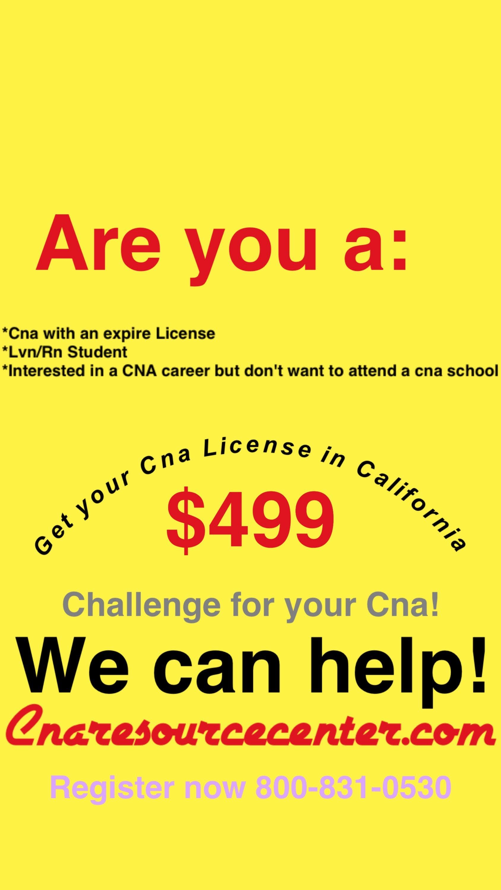 Cna Challenge Session Get Your Certified Nurse Assistant License