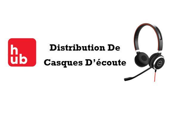 Distribution Casques d'écoute Banque National