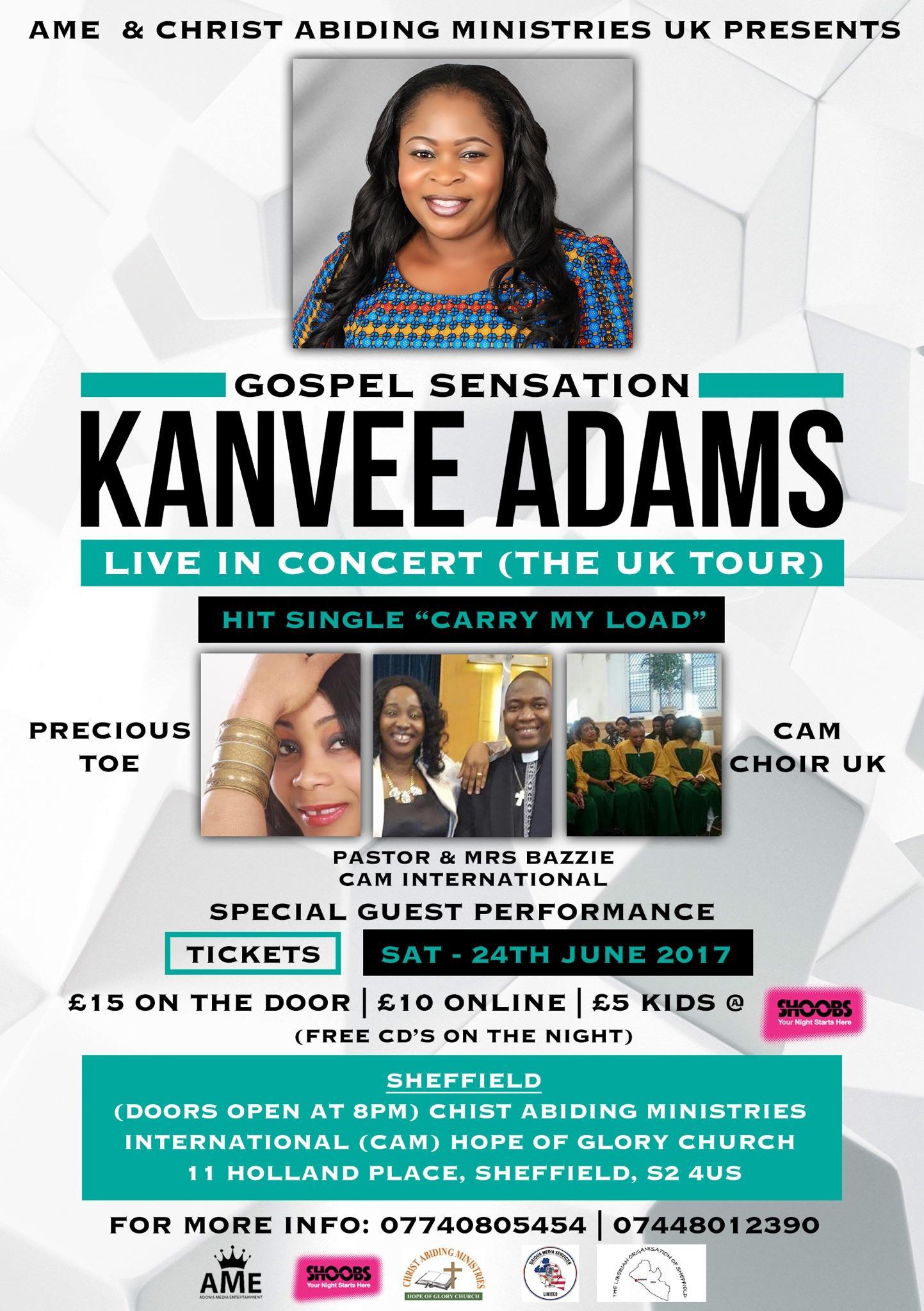 - KANVEE ADAMS UK TOUR - SHEFFIELD