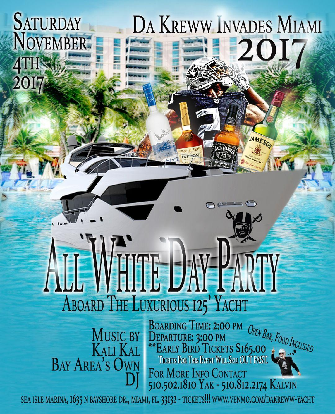 DA'KREWW INVADE MIAMI 2017 YACHT PARTY