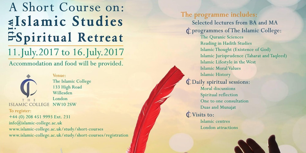 Free short course on islamic studies with spiritual retreat free short course on islamic studies with spiritual retreat tickets tue jul 11 2017 at 800 am eventbrite sciox Choice Image