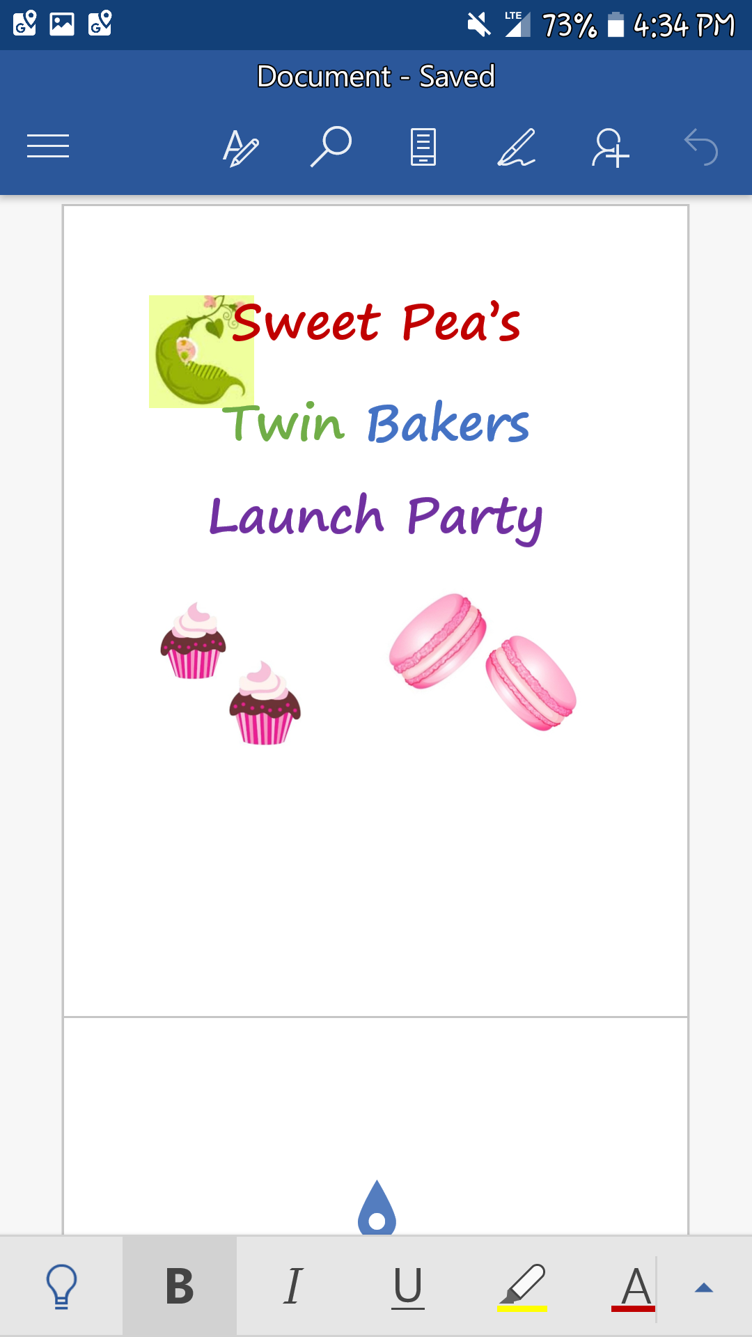 Sweet Peas Twin Bakers Launch Party
