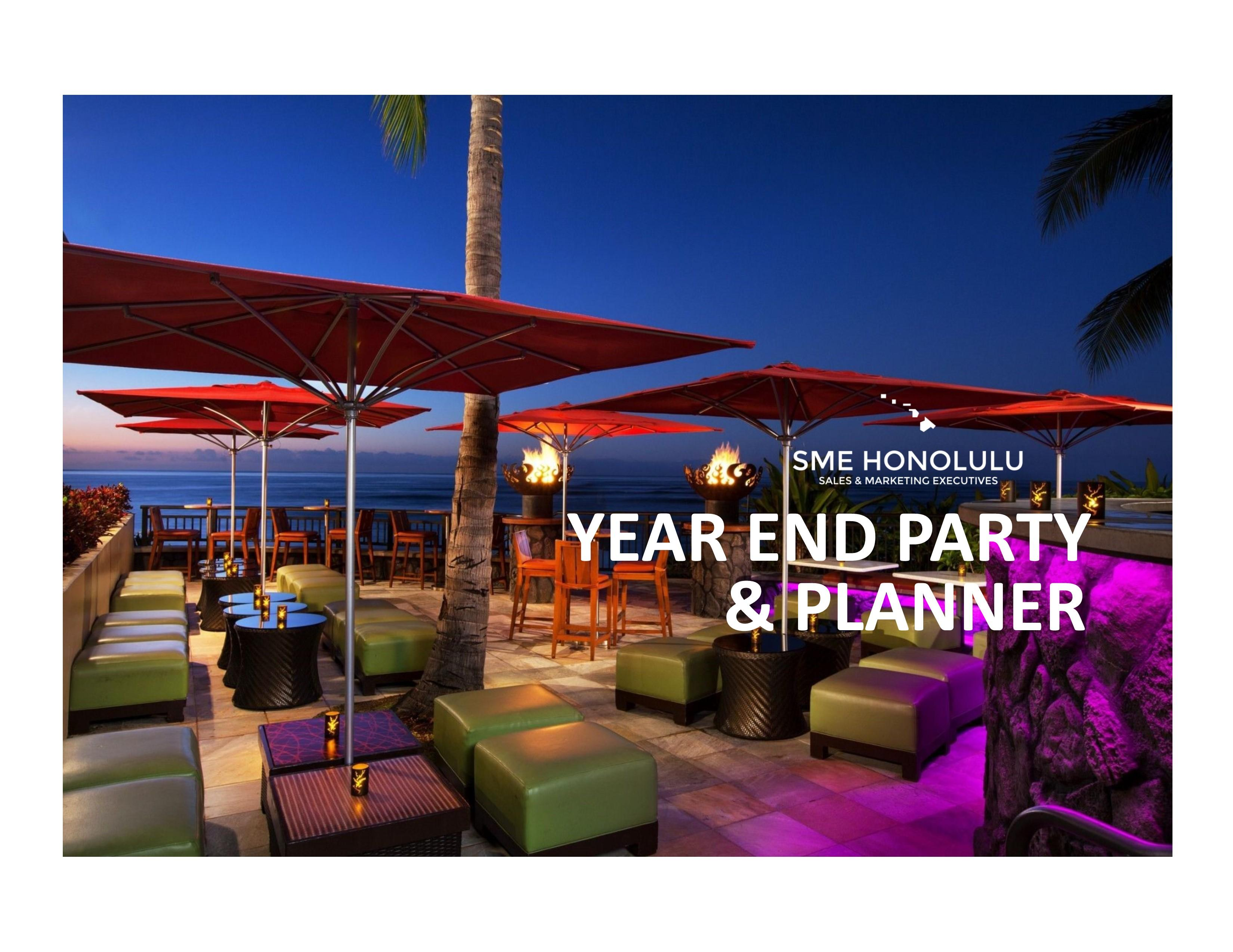 Year-End Party & Planner: An SME cocktail eve