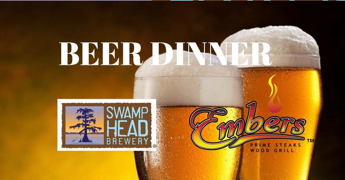 Embers and Swamp Head Beer Dinner
