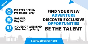 Startup Jobs Fair Tickets, Fri, Jun 30, 2017 at 2:30 PM   Eventbrite