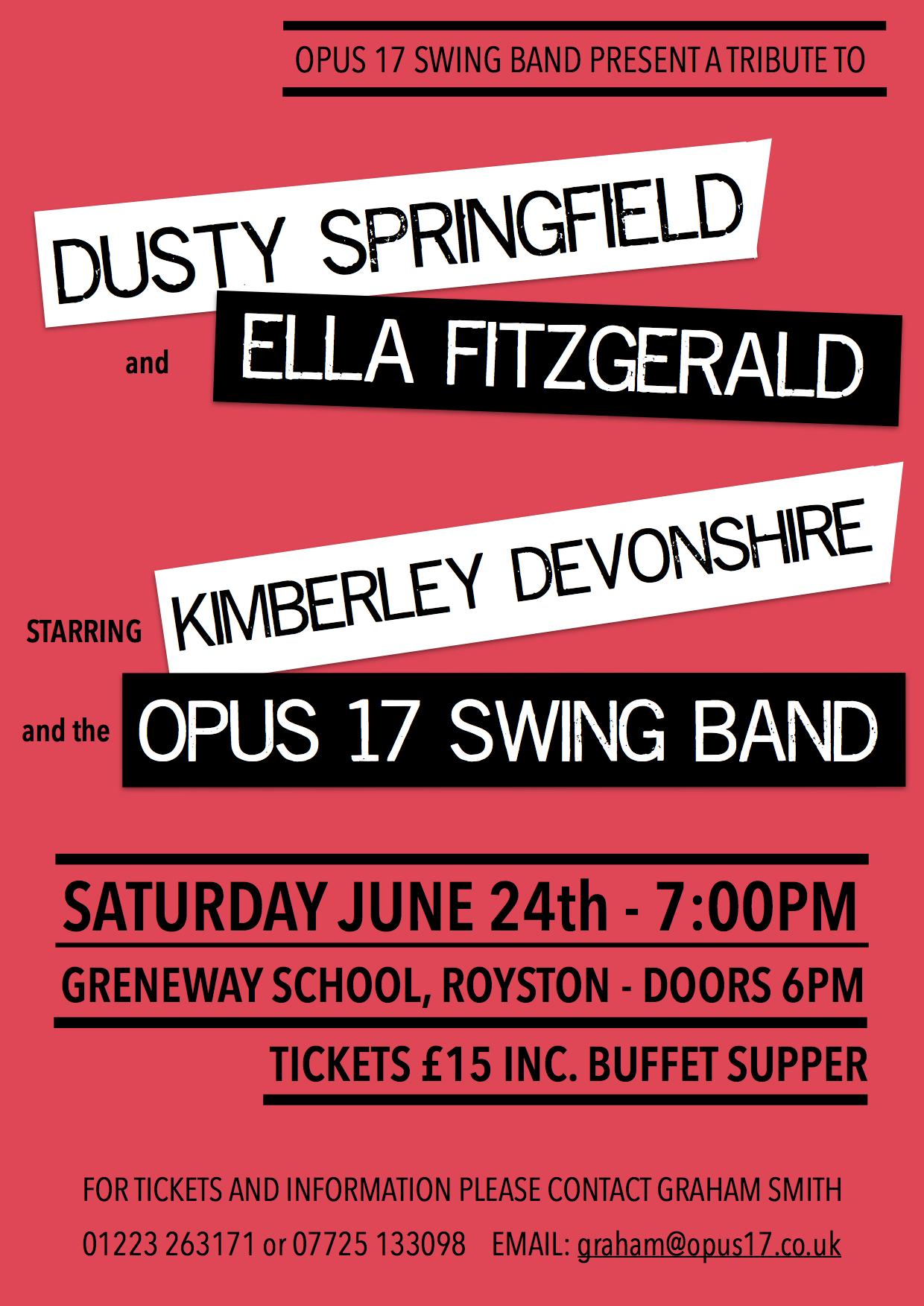 The Opus 17 Swing Band and Kimberley Devonshi