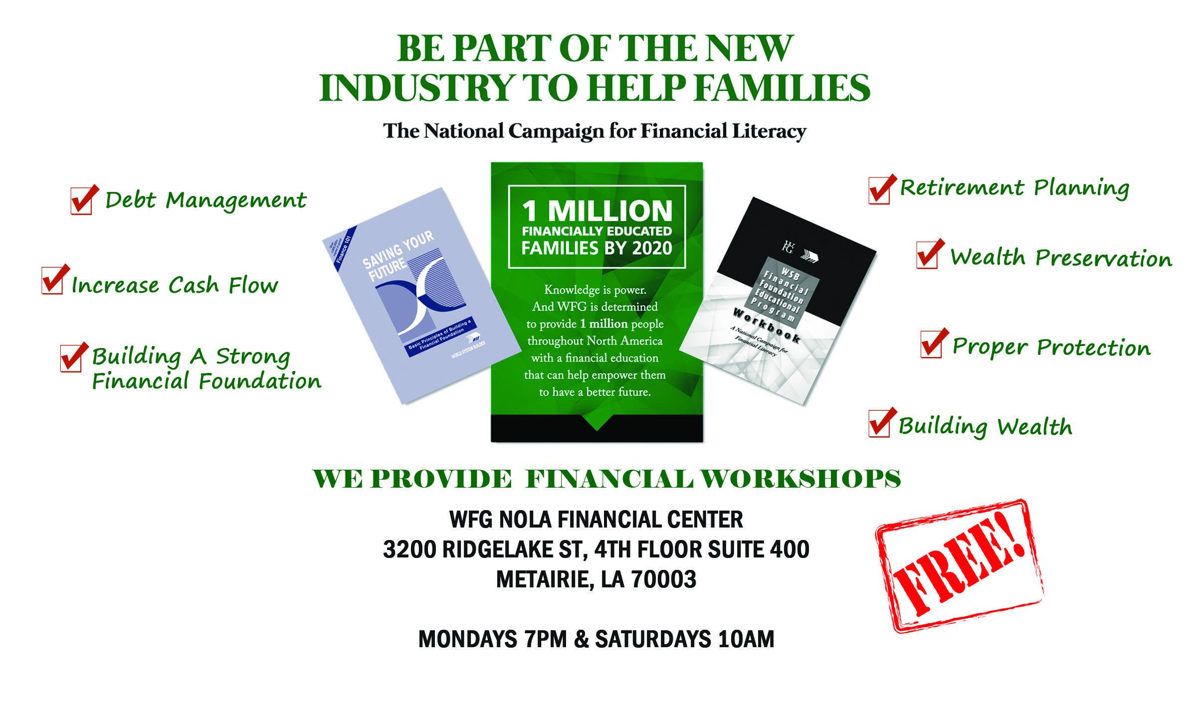 Financial Foundation Educational Workshops