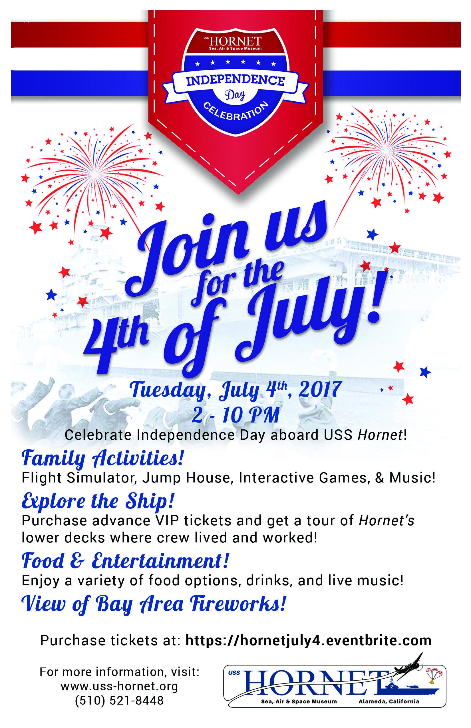 2017: 4th of July Membership @ USS Hornet Museum, Alameda - 4 JUL 2017
