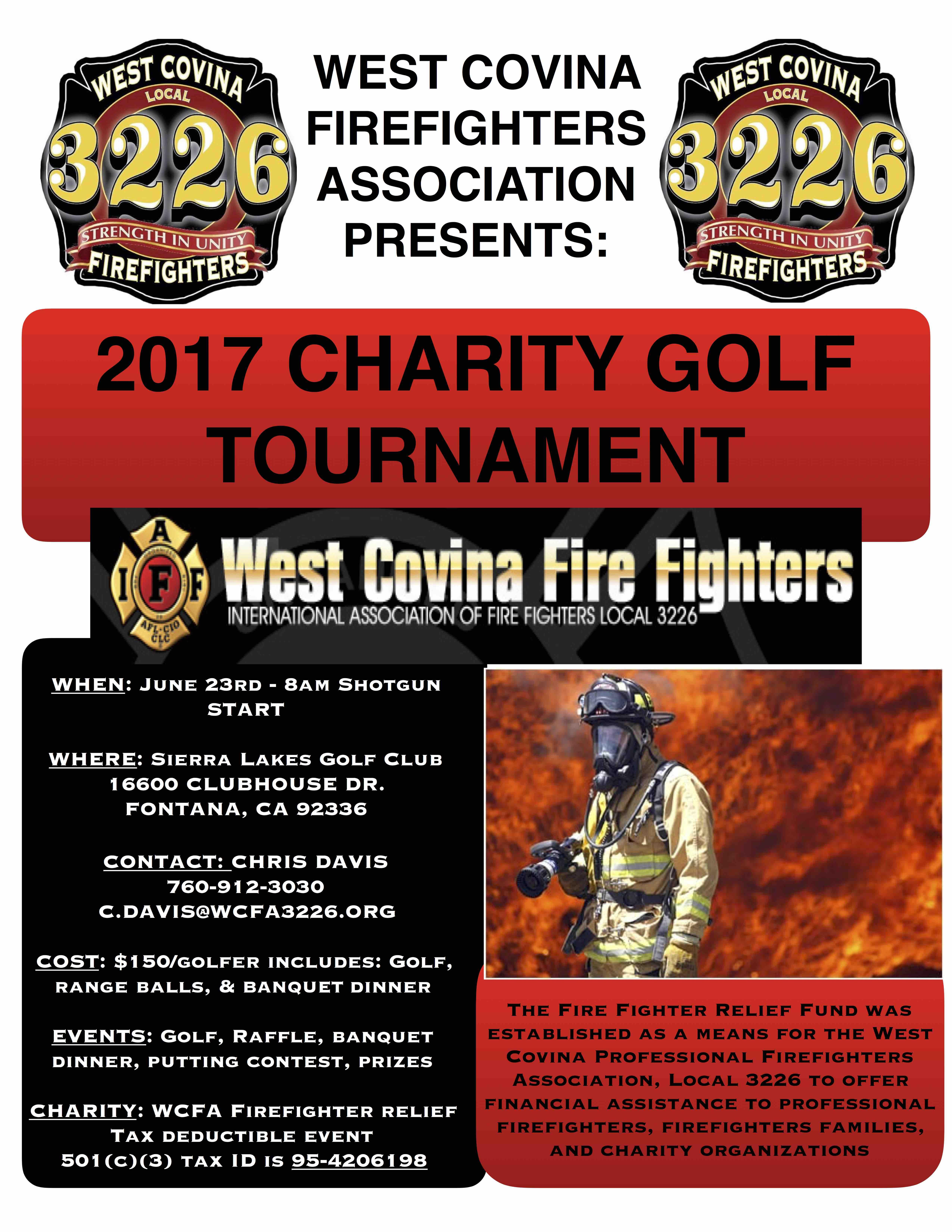 2017 West Covina Firefighters Charity Golf To