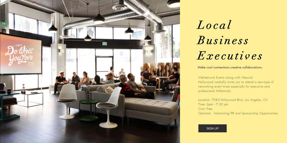 7 20 27 Attend Advertise Sponsor WeNetworkevents At Wework Locations Tickets Multiple Dates