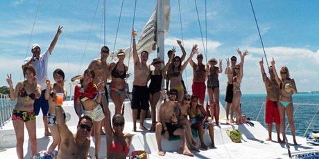 Cancun Party Booze Cruise Isla Mujerers Catamaran Tour (All-inclusive) tickets
