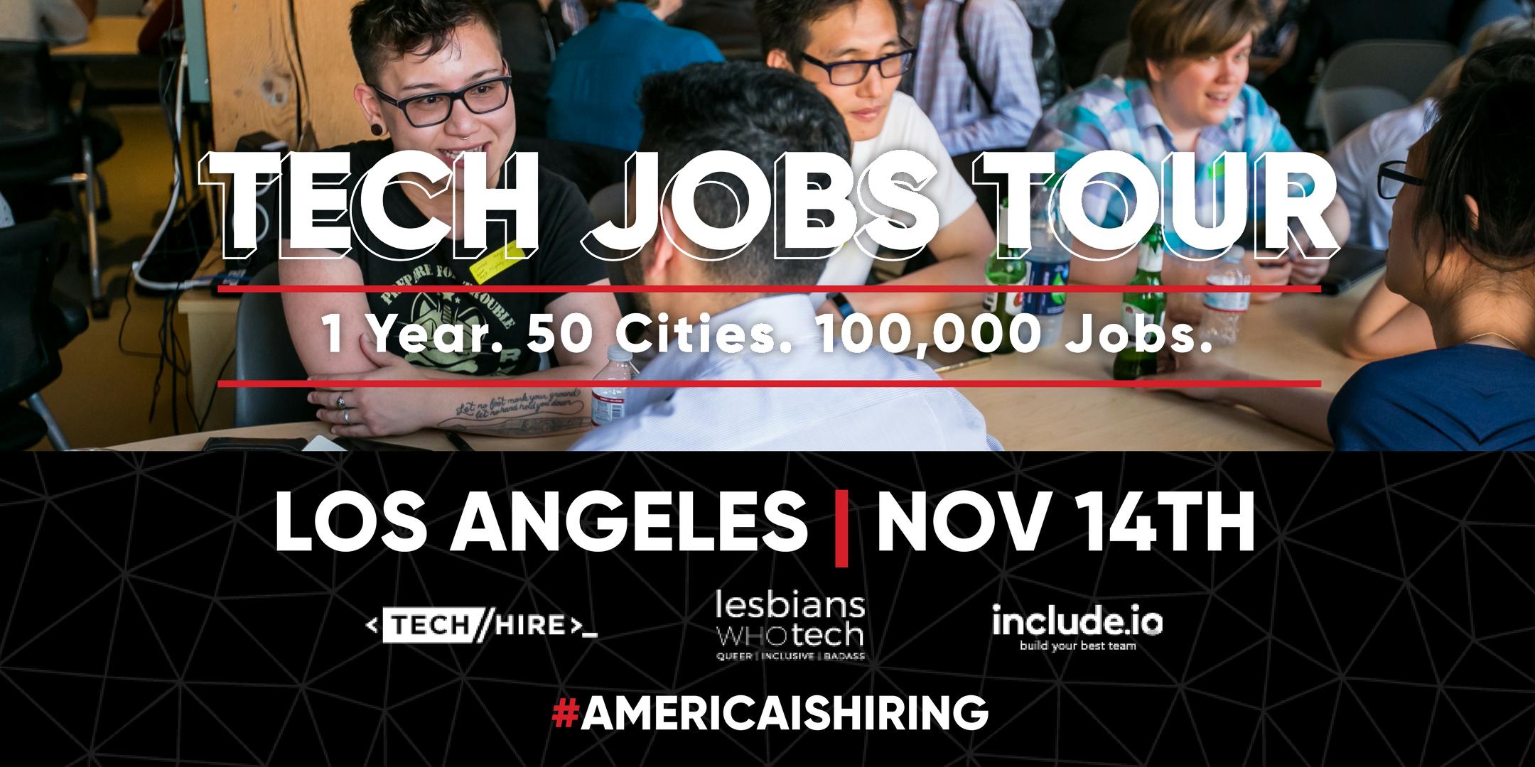 Tech Jobs Tour Los Angeles | Career Fair, Tech Demos + Speed Mentoring