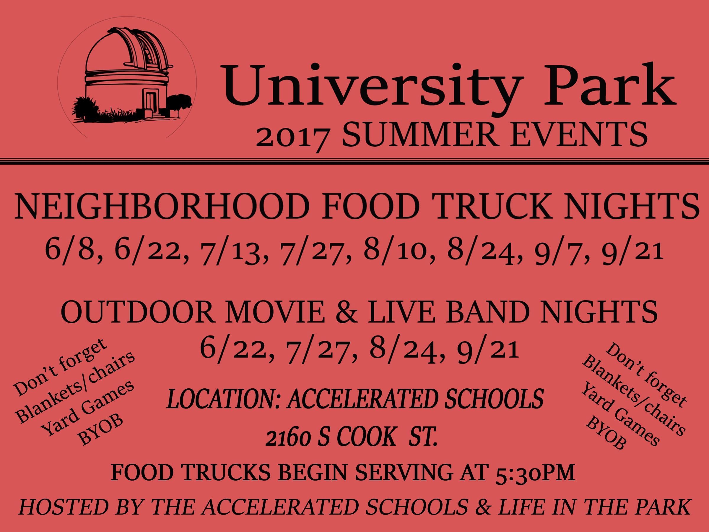 UNIVERSITY PARK NEIGHBORHOOD FOOD TRUCK NIGHTS. UNIVERSITY PARK NEIGHBORHOOD FOOD TRUCK NIGHTS