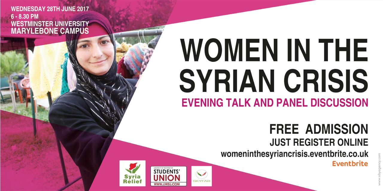 Women in the Syrian Crisis Evening Talk and Panel Discussion